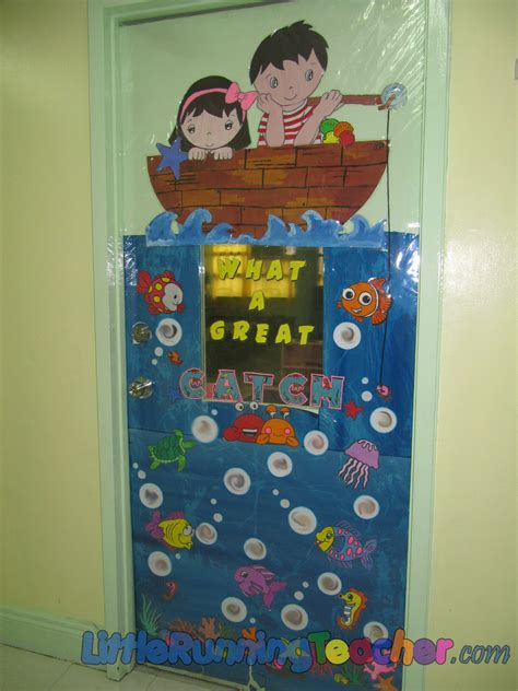 classroom door decor running