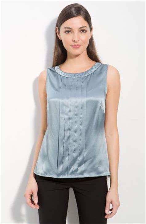 silk charmeuse blouse classiques entier silk charmeuse blouse in blue blue