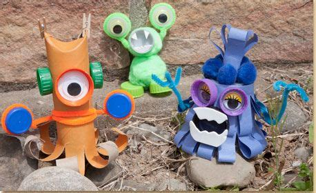 recycled monsters create cute  monsters