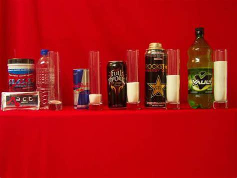 energy drinks comparison  amount  sugar