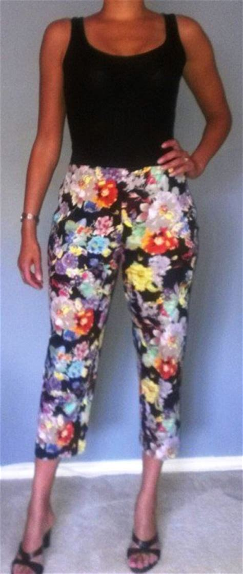floral capri pants sewing projects burdastylecom
