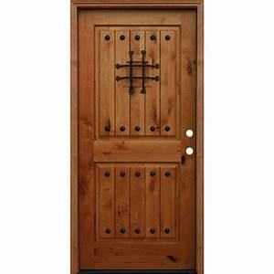 Beautiful Knotty Alder Exterior Doors Contemporary