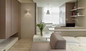 small living super streamlined studio apartment With modern studio apartment design layouts
