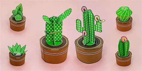 FREE! - Printable 3D Cactus Template Pack - Teaching Resources