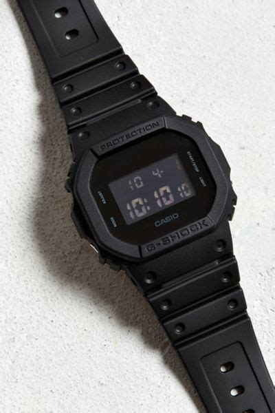 Casio G Shock Black Out Basic Watch   Urban Outfitters