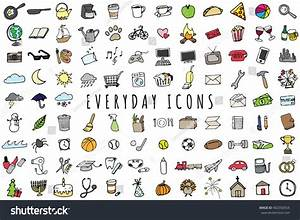 Everyday Objects Icons Set - Sketched Planner And To-Do ...