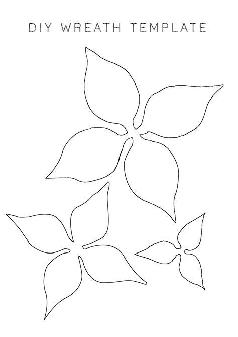 poinsettia template diy paper poinsettia wreath
