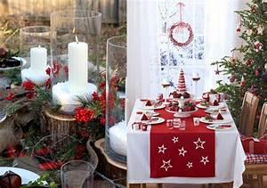 Table De Noel Traditionnelle : idee deco table noel rouge et or channelmarineacademy ~ Melissatoandfro.com Idées de Décoration
