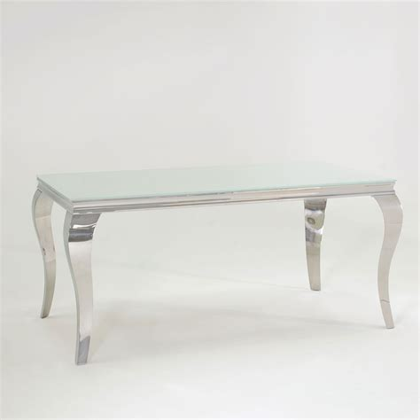 chrome table and chairs fadenza small white glass dining table and 4 silver chairs