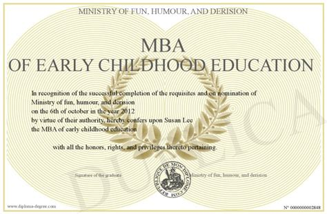 mba  early childhood education