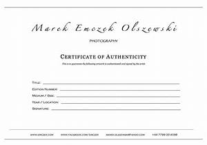 how to create a certificate of authenticity for your With certificate of authenticity photography template