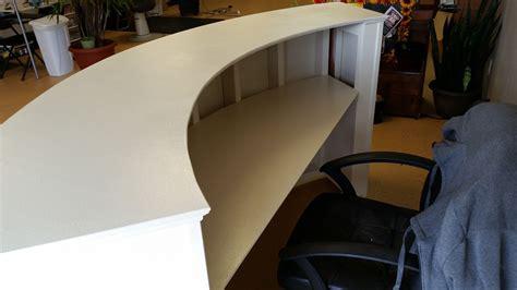 build a reception desk handyman how 2 building a round reception desk