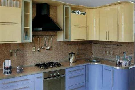 small kitchen design in yellow blue shades kitchen