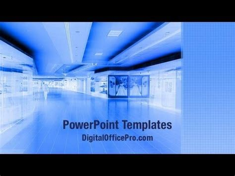 shopping mall powerpoint template backgrounds