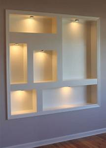 Lighted Display Niches Contemporary New York By