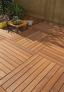 des dalles clipsables bois pour votre terrasse leroy merlin With dalles clipsables pour terrasse