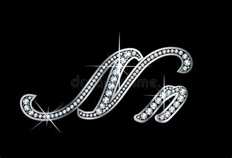 script diamond bling nn letters stock images image