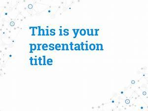 Free presentation template social media inspired design for Google slides templates science