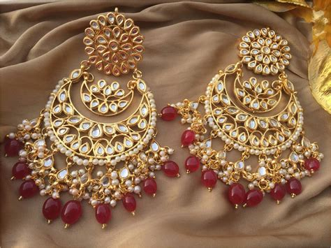 latest indian earrings adorable hand crafted fashion
