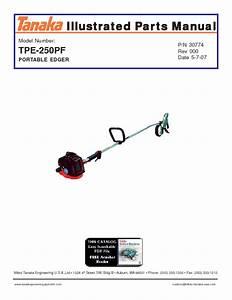 Portable Edger Tpe-250pf Manuals