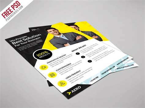 Colorful Corporate Business Flyer Template Psd File Free Fitness Or Flyer Template Free Psd Psdfreebies