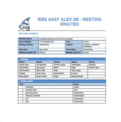 professional meeting minutes template project meeting minutes templates 10 free sle exle format free premium