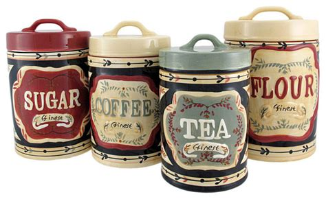 country canisters for kitchen 4 country store kitchen ceramic canister set