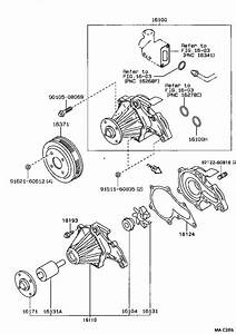 Toyota Corolla Engine Water Pump Housing  Cooling