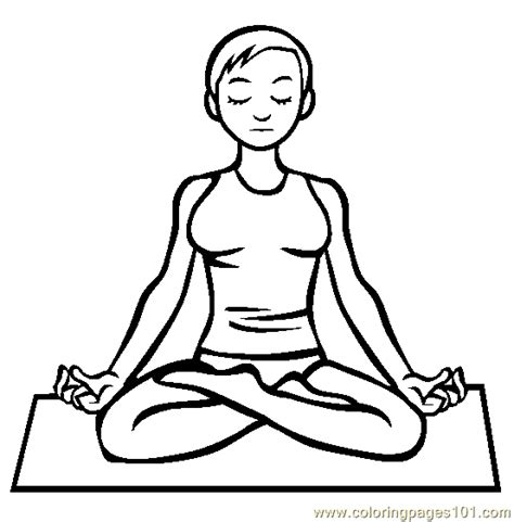 yoga instructor coloring page  police coloring pages