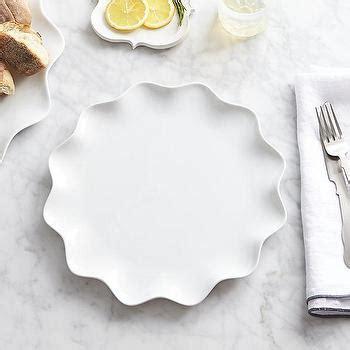 mallorca white scalloped  dessert plate