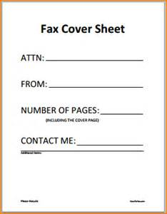 Resume Outline Template 6 General Fax Cover Sheet Teknoswitch