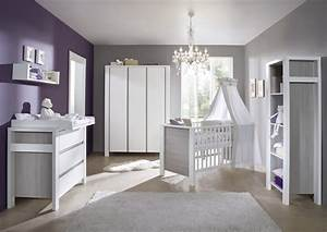 Chambre Bébé Moderne : chambre b b lit commode armoire milano gris schardt ~ Melissatoandfro.com Idées de Décoration