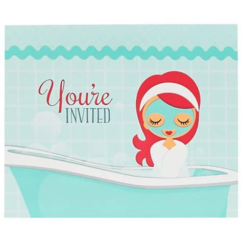 spa party invitations birthdayexpresscom