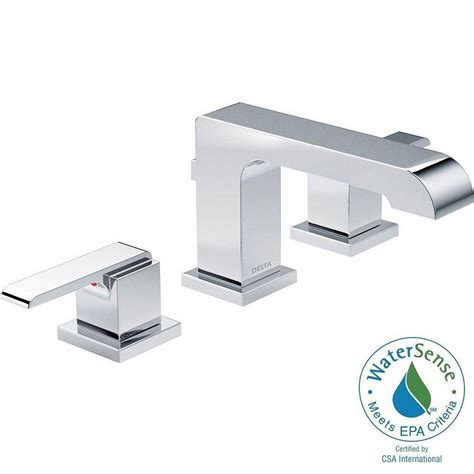 delta ara faucet delta ara 8 in widespread 2 handle high arc bathroom