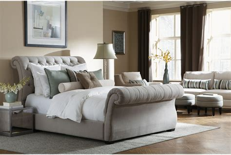 King Platform Bed With Fabric Headboard by Antique French Upholstered White King Bed With Smooth