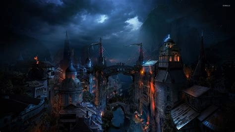 Lord Of The Rings Hd Wallpaper 1920x1080 Dark City Wallpaper Fantasy Wallpapers 23052
