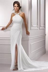 sheath halter court train chiffon wedding dress cute dresses With court wedding dress