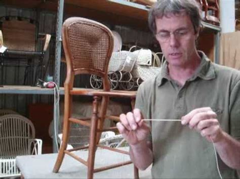 chair caning how to pt 1 youtube