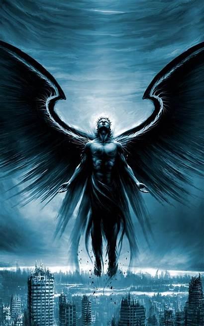 Angel Fallen Dark Android Wallpapers 7k Illustrations