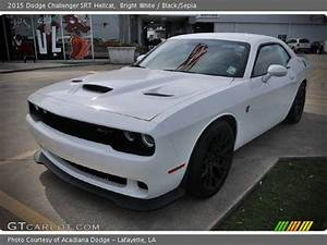 Bright White - 2015 Dodge Challenger SRT Hellcat - Black ...