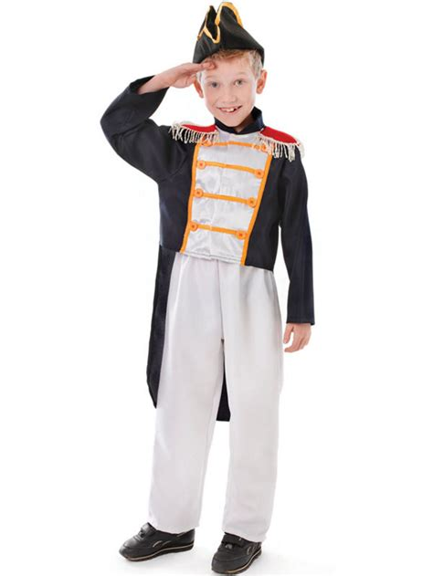 colonial fancy dress boys napoleon admiral childs kids