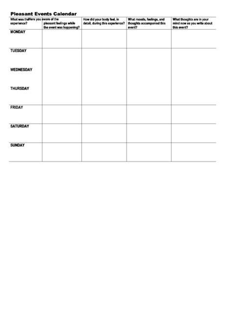 pleasantunpleasant  calendar template printable