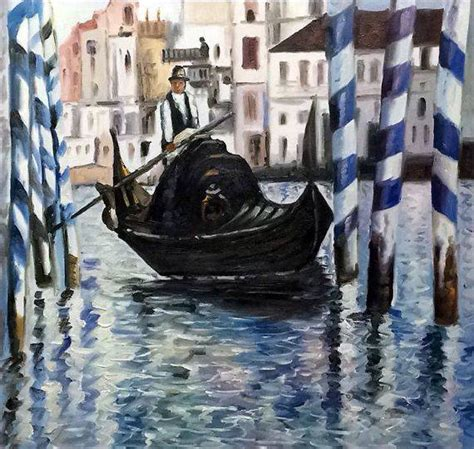 manet  grand canal venice ii oil reproduction