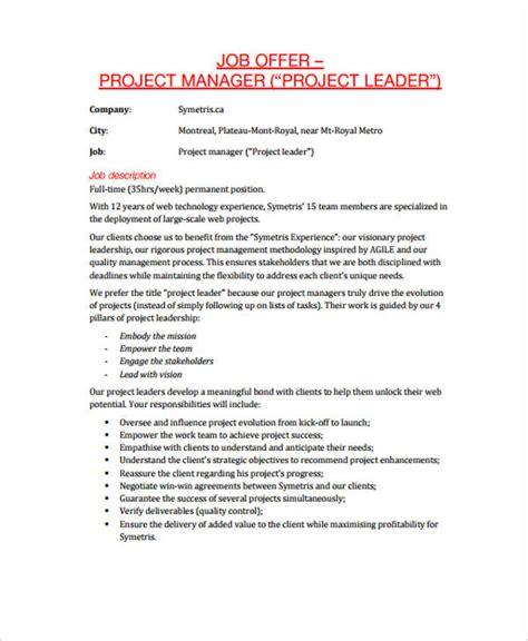 job offer letter templates sles word excel exles job offer letter templates sles word excel exles