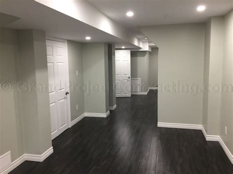 Finished Basement In Mississauga Flooring Kitchen Linoleum Color Combinations For What To Paint Cabinets With Black Appliances Dark Gray Tile Floor Stone Granite Slabs Countertops Kitchens Cherry And Wood Floors