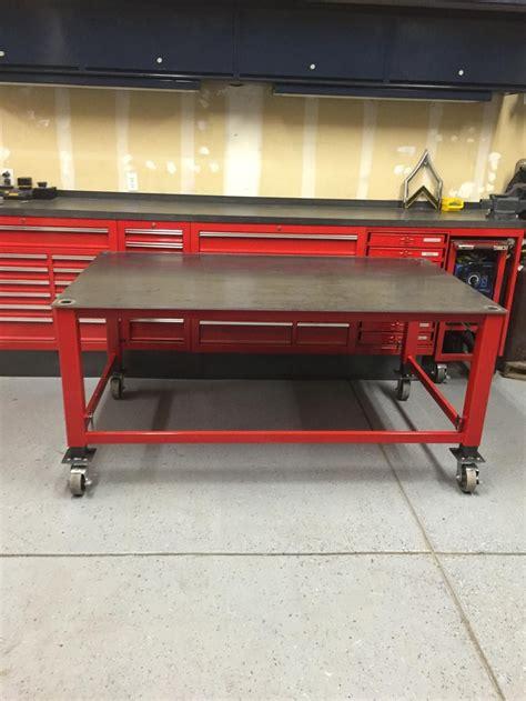 adjustable fabrication table ofn forums welding welding table welding shop welding bench