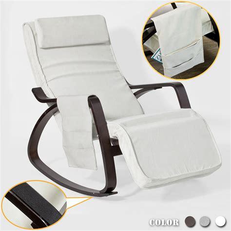 siege bureau confortable sobuy rocking chair fauteuil à bascule berçante avec