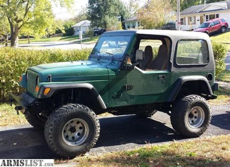 ARMSLIST   For Sale: 1997 Jeep Wrangler (Lifted)