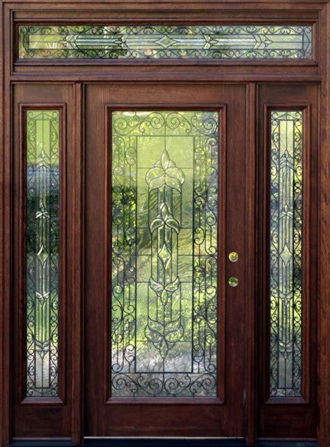 mahogany exterior doors  sidelights  transoms