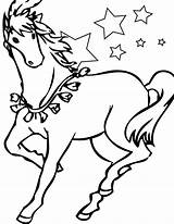 Coloring Pages Horse Horses Printable sketch template